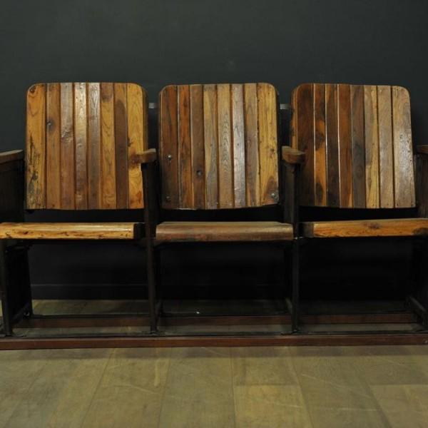ancien banc de cin ma trois si ges mes d couvertes. Black Bedroom Furniture Sets. Home Design Ideas