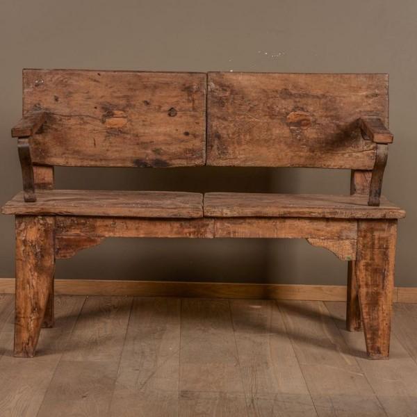 banc en bois et acier vers 1920 mes d couvertes. Black Bedroom Furniture Sets. Home Design Ideas