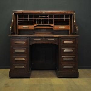 ancien bureau rideau en ch ne par harris lebus mes. Black Bedroom Furniture Sets. Home Design Ideas