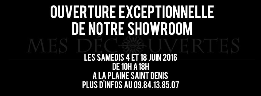 ouverture showroom mes decouvertes