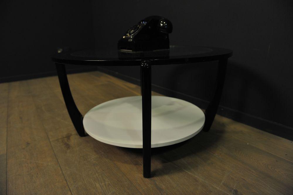 Table basse gplan ronde noire et blanche mes d couvertes - Table basse blanche et noire ...