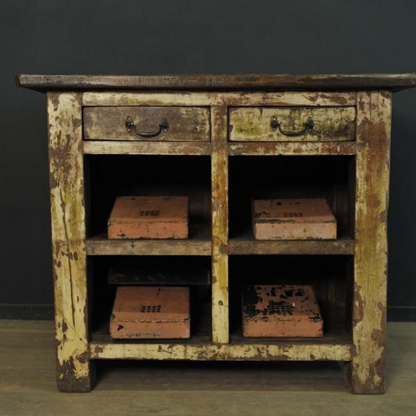 Comptoir a tiroirs en bois  (1)