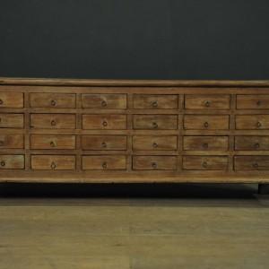 Console a tiroirs en bois  (2)