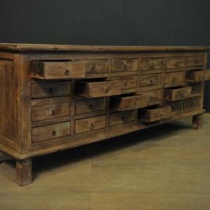 Console a tiroirs en bois  (4)