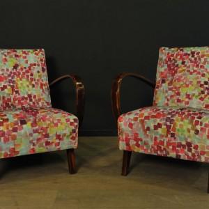 Paire de fauteuils designer Jindrich Halabala (3)