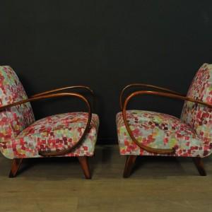 Paire de fauteuils designer Jindrich Halabala (4)