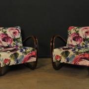 Paire de fauteuils designer Jindrich Halabala (5)