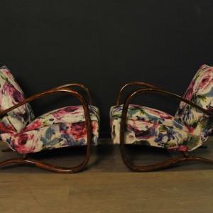 Paire de fauteuils designer Jindrich Halabala (6)