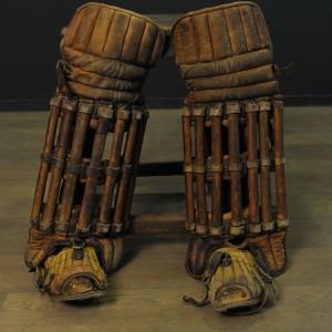 Paire de protège tibias anciens pour joueurs de cricket(2)