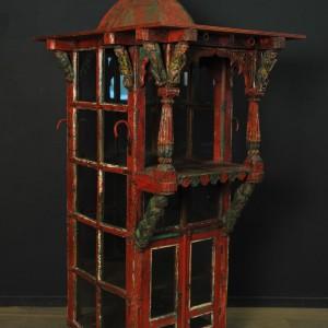 Temple indien en bois polychrome fin XIX (3)