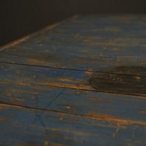 table basse en bois bleu  (4)