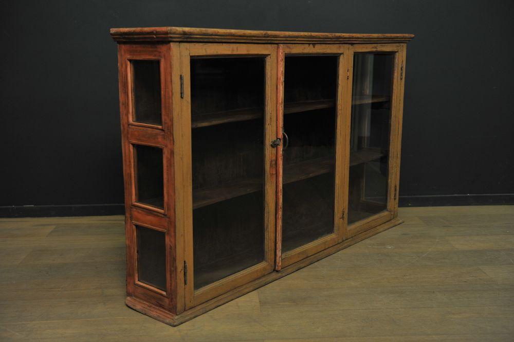 grande vitrine fine en bois patin mes d couvertes. Black Bedroom Furniture Sets. Home Design Ideas