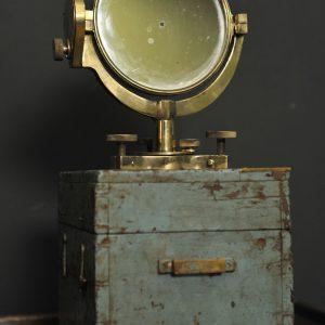 miroir de marine en laiton reflecteur de lumiere pour calcul de distance  (2)