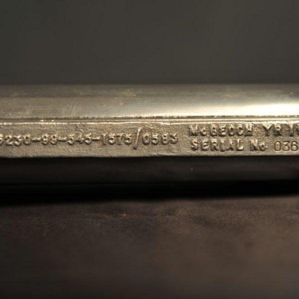torche de plongée vintage acier