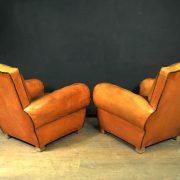 fauteuils club cuir vintage