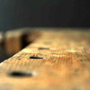 table établi bois massif vintage