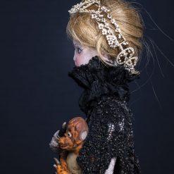 """Composition sous globe """"La morte fiancée"""""""