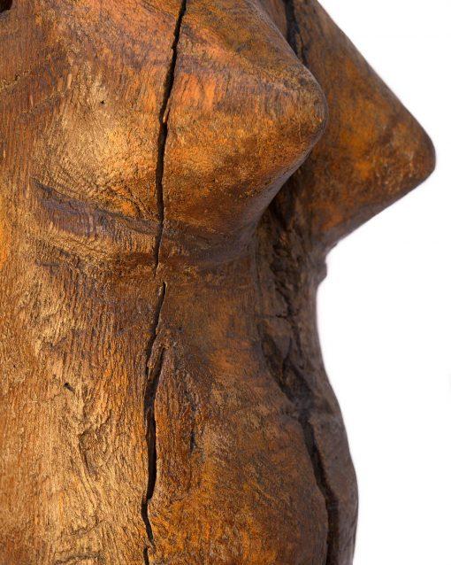 Ancienne poupée en bois sur pied - Julien Cohen