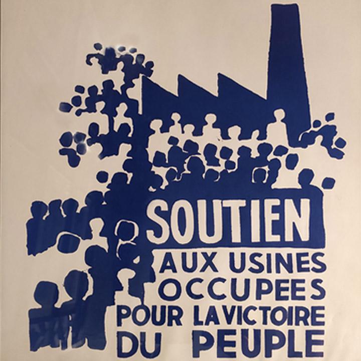 Affiche de Mai 1968 encadrée