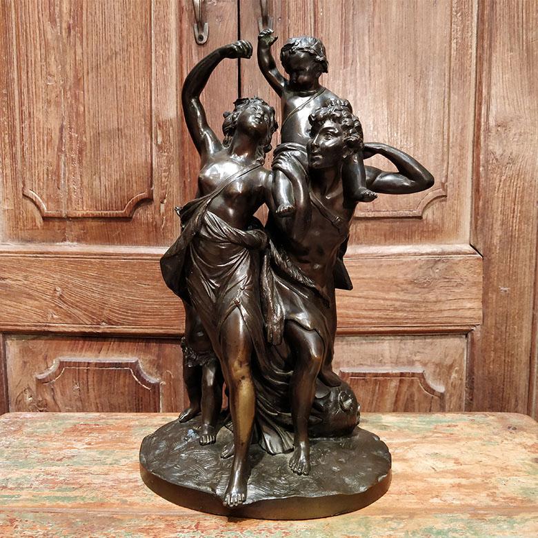 Bronze représentant une famille