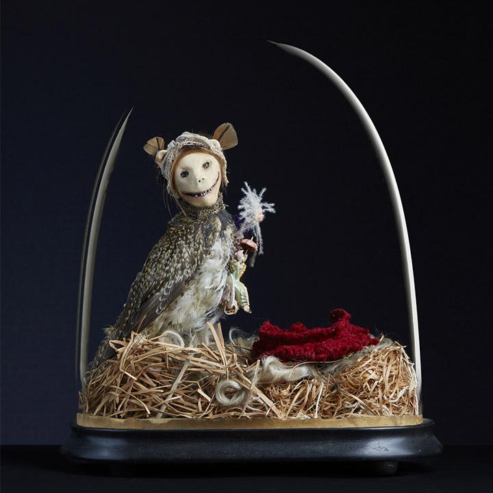 Composition sous globe « L'arrache coeur » Cabinet de Curisioté - Julien Cohen