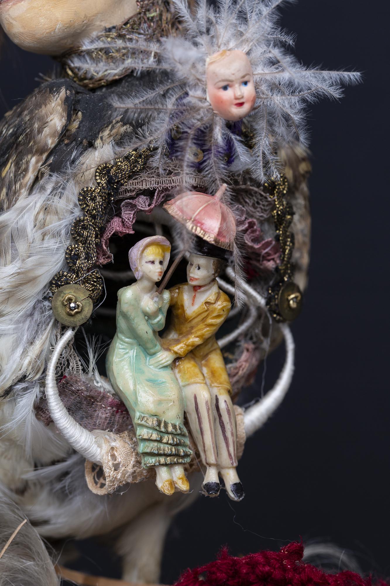 """Composition sous globe """"L'arrache coeur"""""""