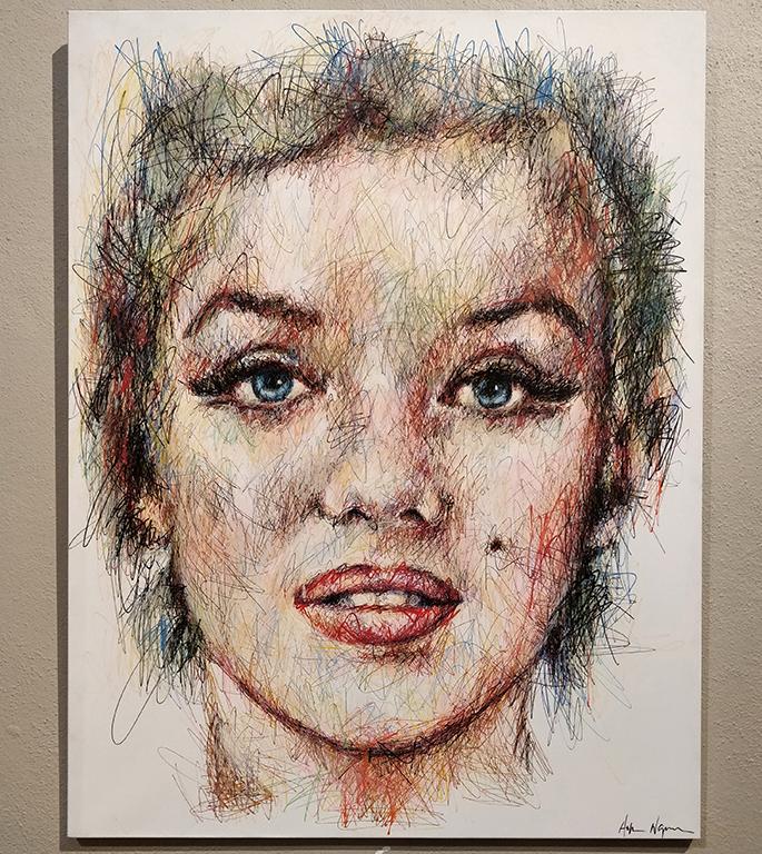 Portrait de Marylin Monroe par Hom Nguyen
