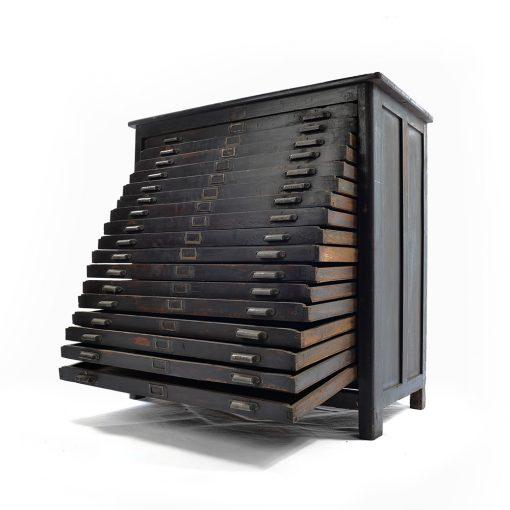 Meuble d'imprimeur à 17 tiroirs - Meuble de métier - Julien Cohen