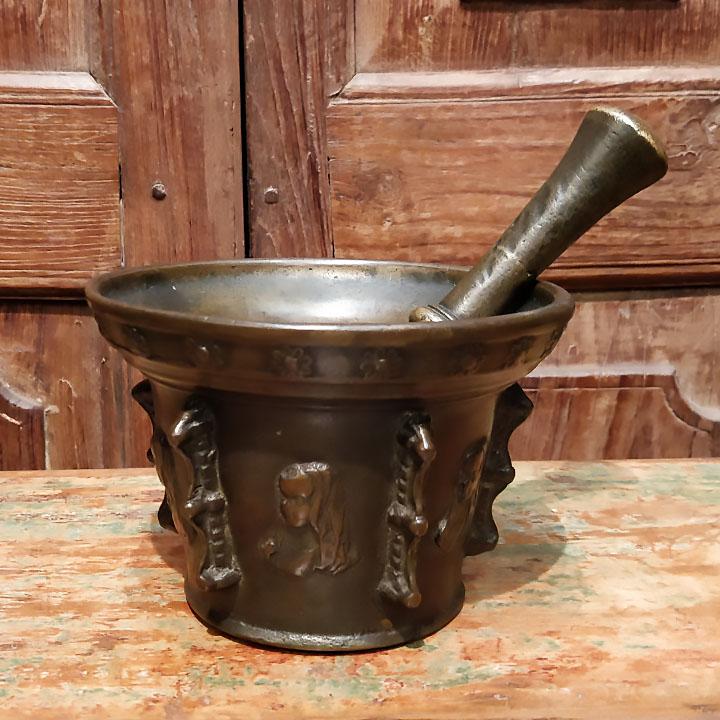 Mortier en bronze du XVIIème siècle