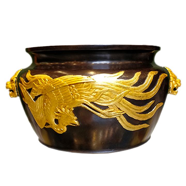 Paire de cache-pots en bronze Japonais du XIXème siècle - Julien Cohen Mes Découvertes