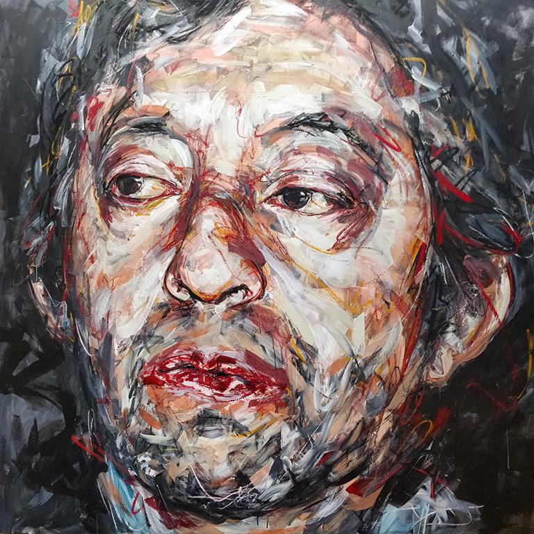 Portrait de Serge Gainsbourg par Hom Nguyen