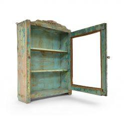 Petite vitrine en bois patinée - Julien Cohen