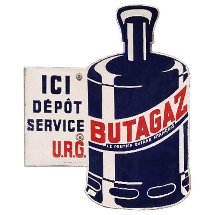 Plaque émaillée Butagaz