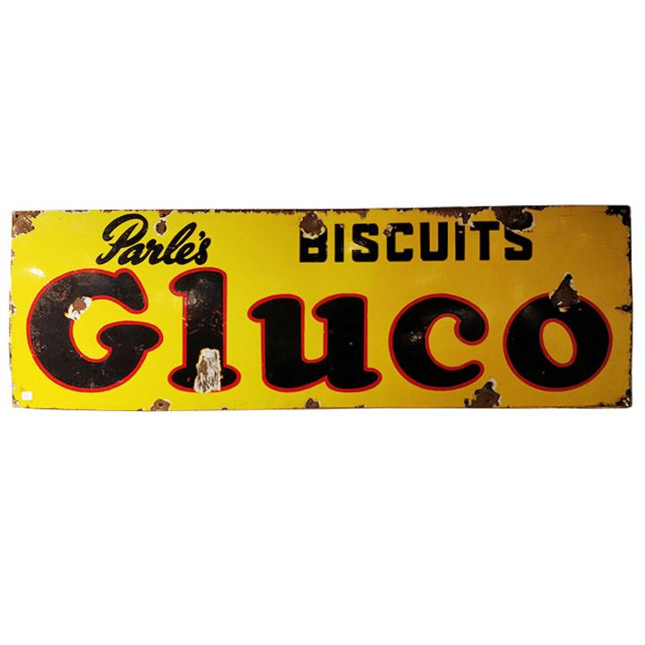 Plaque émaillée Parle's Gluco Biscuits