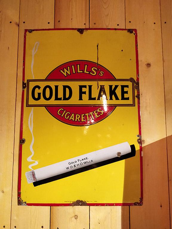 Plaque émaillée Gold Flake