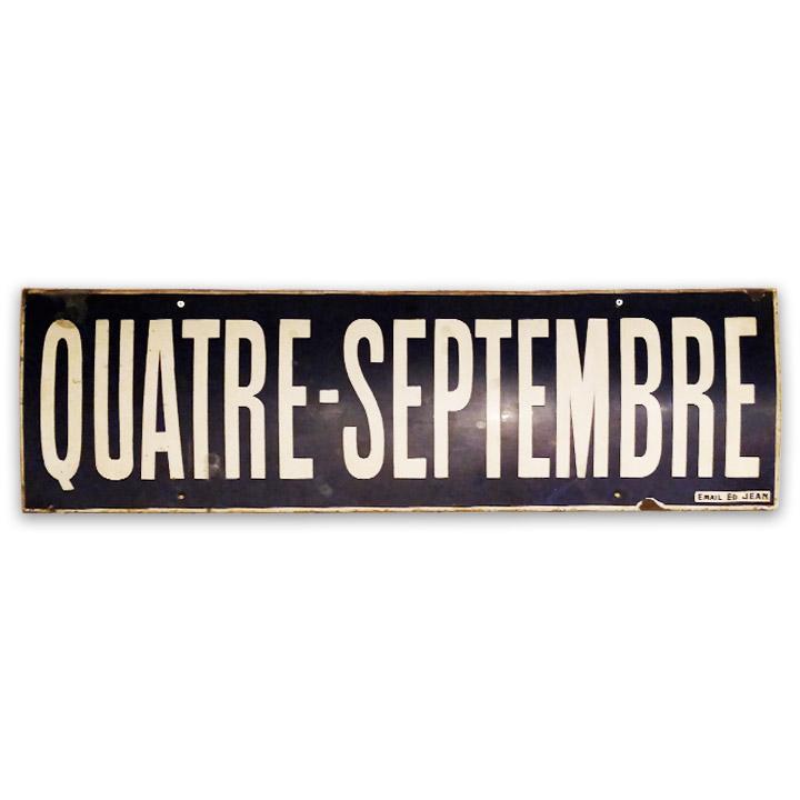 Plaque émaillée de la station de métro 4 septembre - Julien Cohen