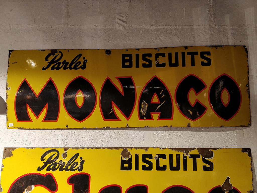 Plaque émaillée Parle's Monaco Biscuits