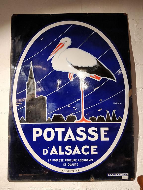 Plaque émaillée Potasse d'Alsace