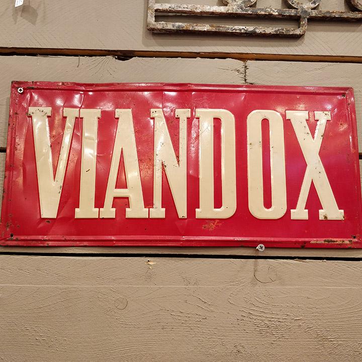 Plaque émaillée Viandox