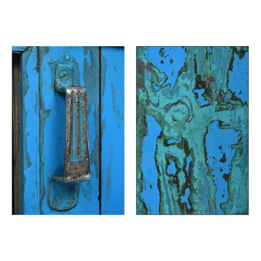 Longue vitrine bleue - Julien Cohen Affaire Conclue