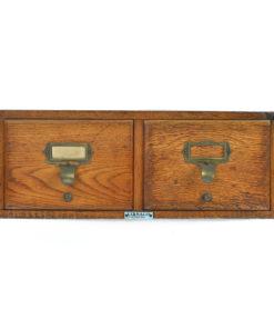 Petit meuble d'apothicaire à 2 tiroirs - Meuble de métier