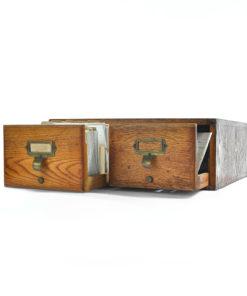 Petit meuble d'apothicaire à 2 tiroirs
