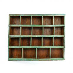 Meuble d'atelier en bois à 19 casiers - Julien Cohen Mes Découvertes