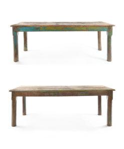 Table en bois patinée - Julien Cohen Mes Découvertes
