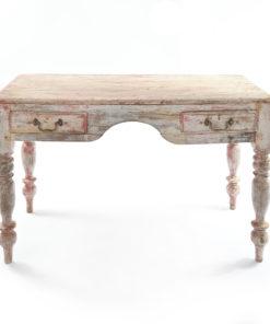 Table en bois patinée à 2 tiroirs - Julien Cohen
