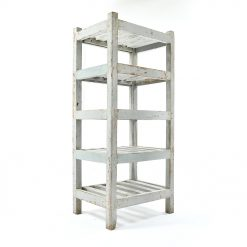 Etagère blanche en bois à 5 étages - Julien Cohen Mes Découvertes