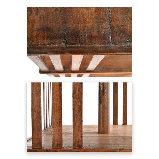 Bibliothèque tournante en bois - Julien Cohen Affaire Conclue