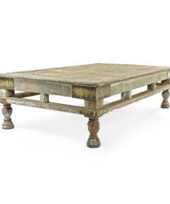 Table basse en bois patiné - Julien Cohen Mes Découvertes