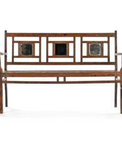 Banc en bois avec 3 miroirs - Julien Cohen Affaire Conclue