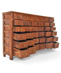 Console en bois à 36 tiroirs - Julien Cohen Affaire Conclue